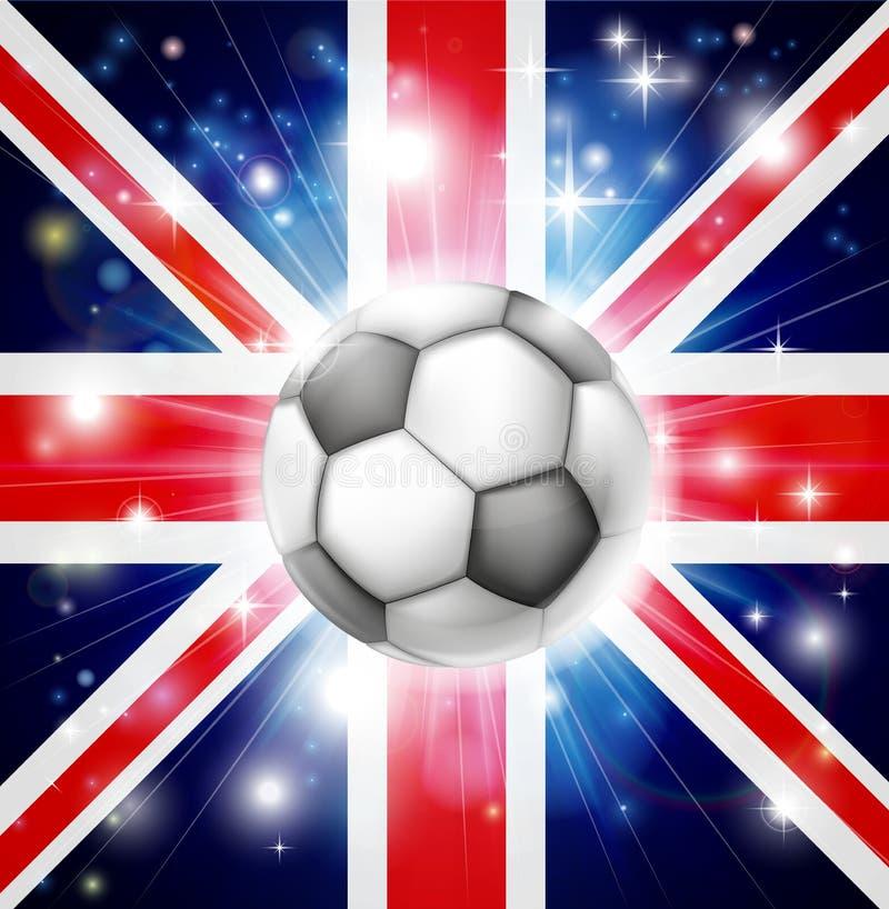 UK Soccer Flag Stock Image