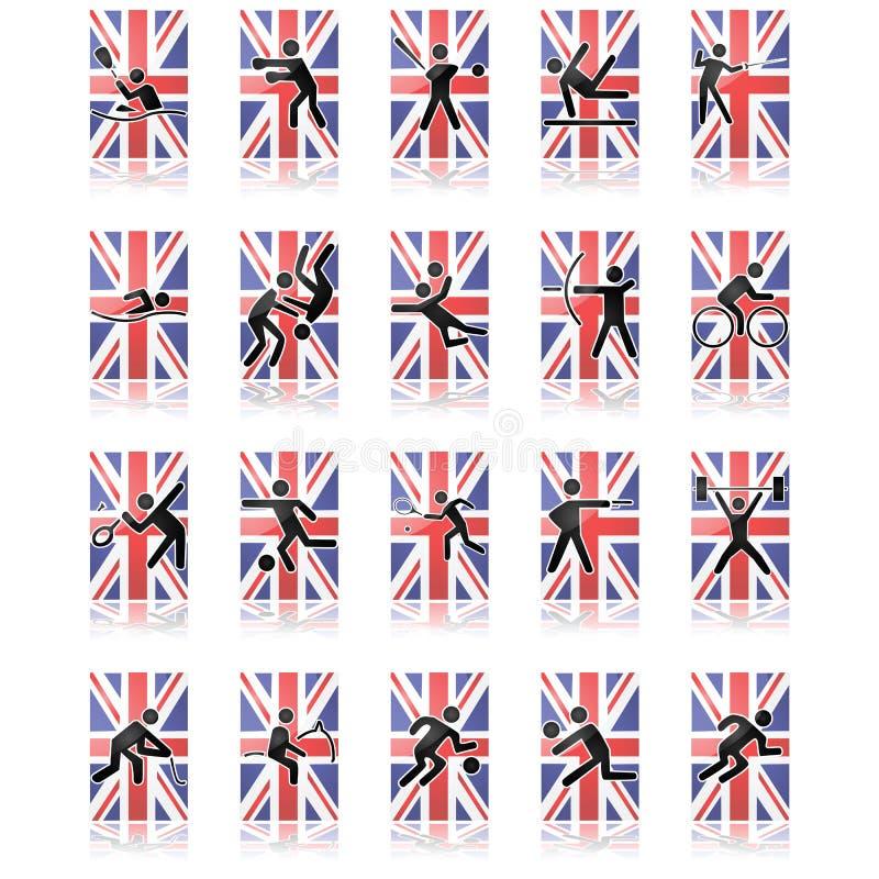 UK Sport Icons Royalty Free Stock Photography