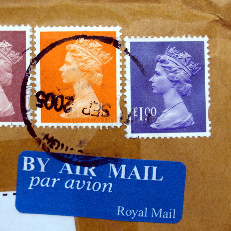 Download UK Stamps stock photo. Image of mail, royal, packet, parcel - 6778032