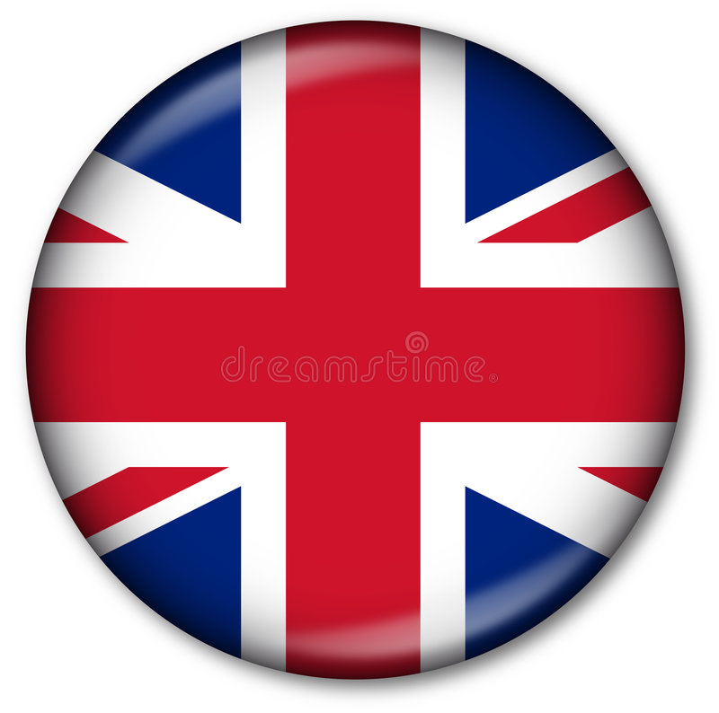 UK State Flag Button royalty free illustration