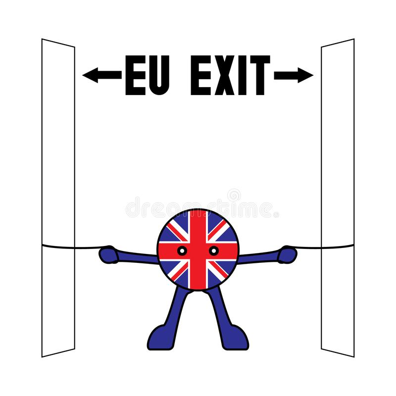 UK under Brexit pressure. This is a vector illustrative representation of UK The United Kingdom after the Brexit referendum royalty free illustration