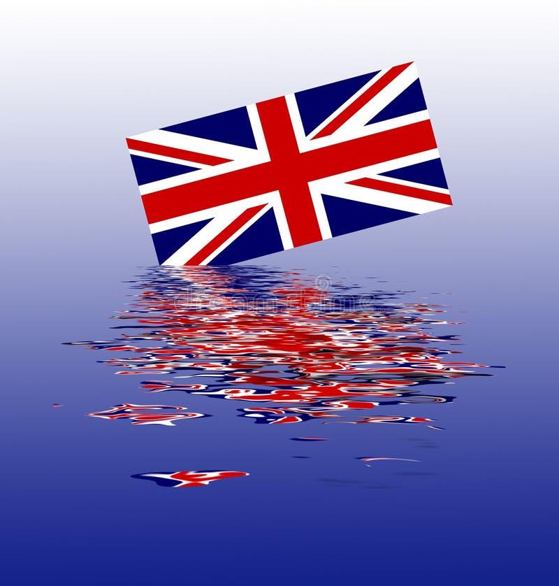 UK Union Jack flaga część zanurzająca ilustracji