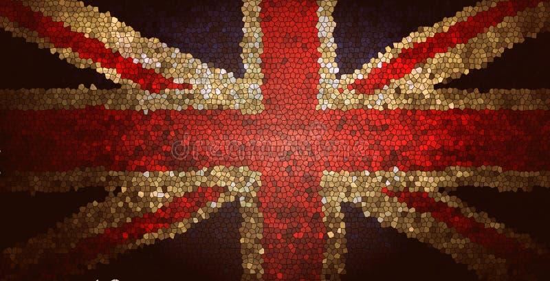 UK United Kingdom Union Jack flag mosaic texture background royalty free stock photo