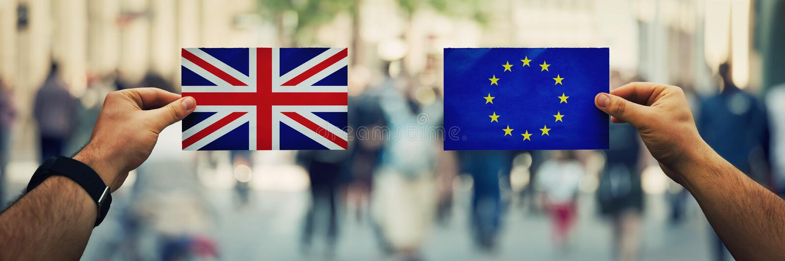 Uk vs eu royalty free stock photos
