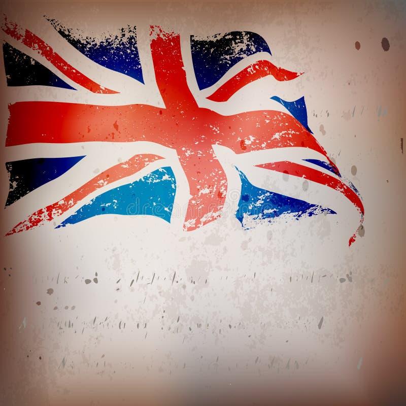 UK, Wielki Brytania flaga grunge, ilustracji