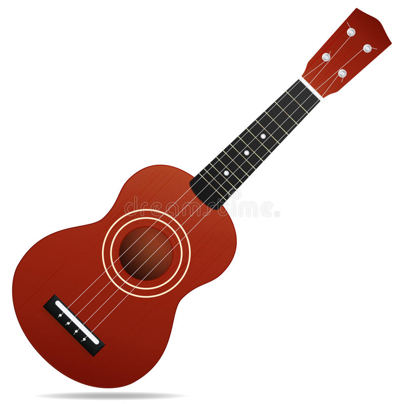 Ukelele acústico (guitarra) ilustración del vector