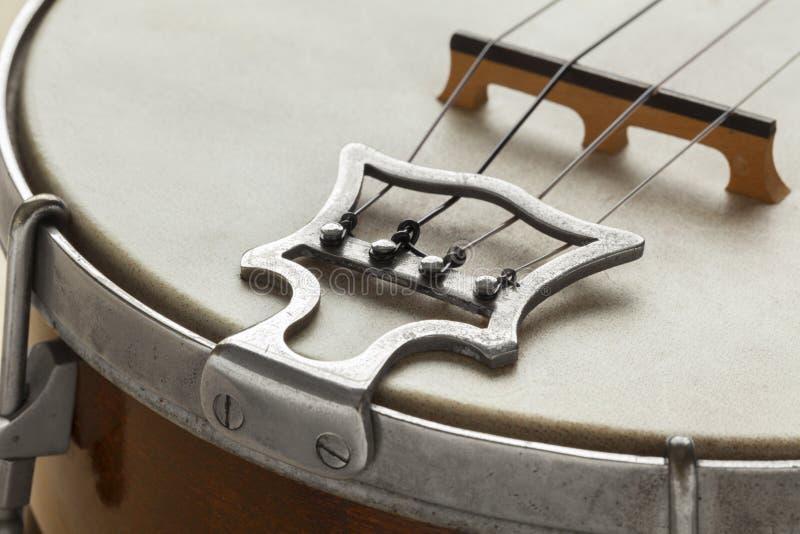Ukelele banjo tailpiece. Close up royalty free stock photos