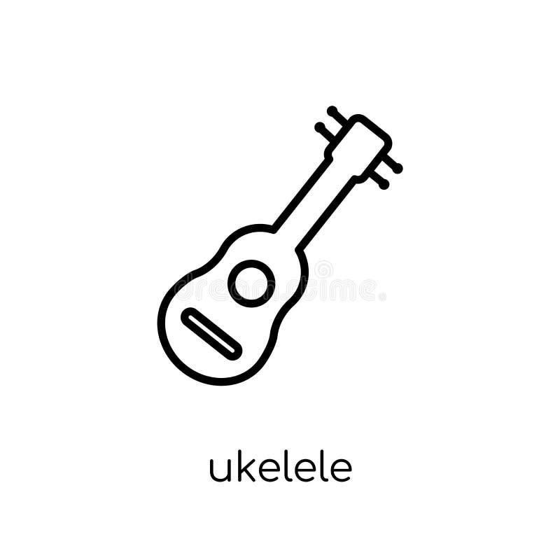 Ukelele-Ikone von der Musiksammlung lizenzfreie abbildung