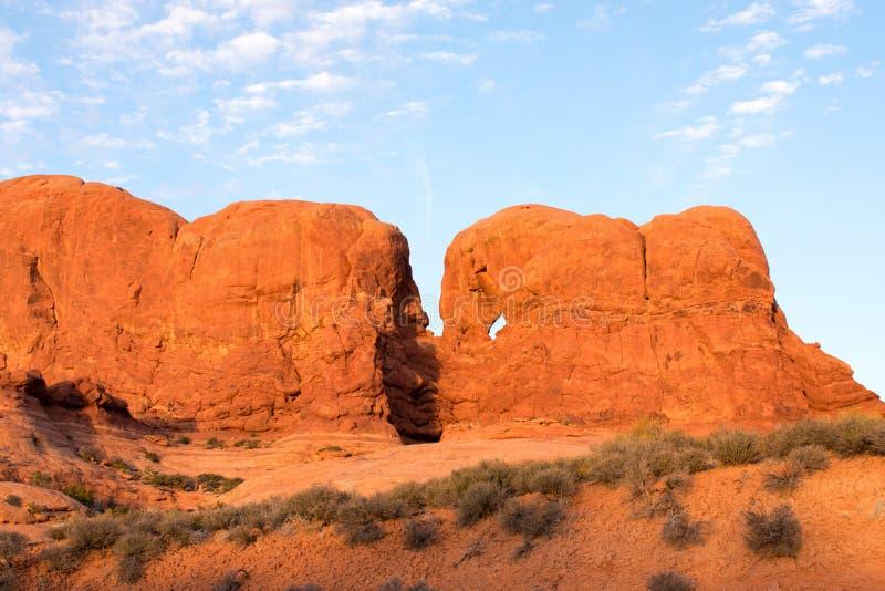?uki parki narodowi, Moab, Utah zdjęcia stock