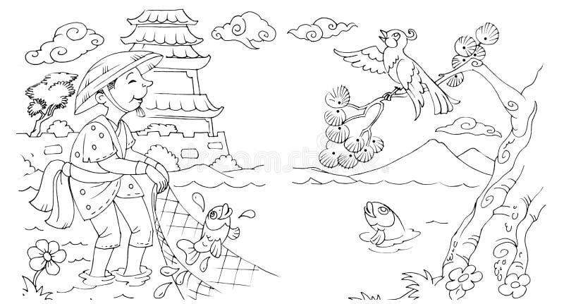 Ukierunkowywa bajki scenę ilustracja wektor