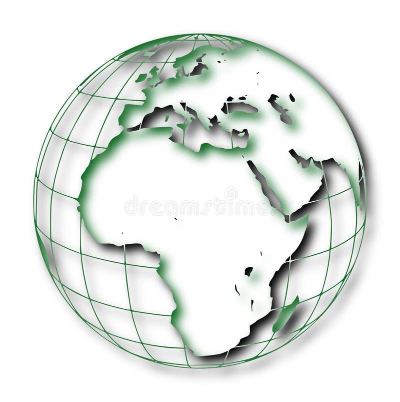 Ukierunkowywa ziemia: Afryka i Eurasia ilustracja wektor