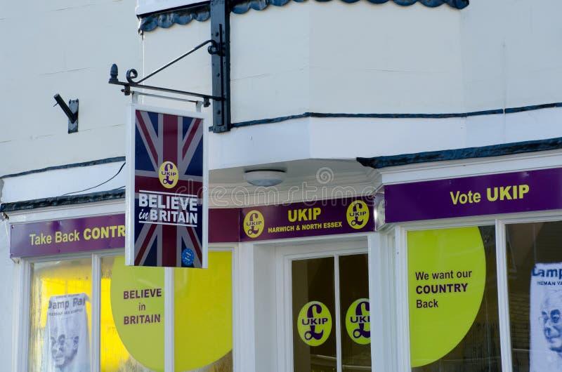 UKIP-Büros in Harwich lizenzfreies stockbild