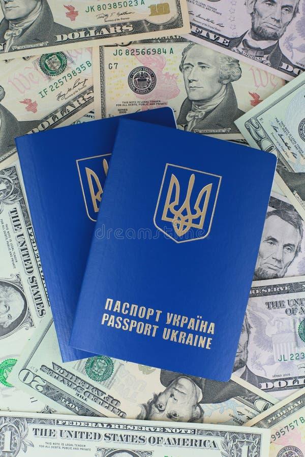 Ukraińscy międzynarodowi paszporty zdjęcia stock