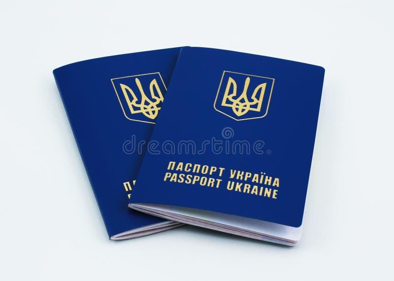 Ukraińscy międzynarodowi paszporty zdjęcie stock