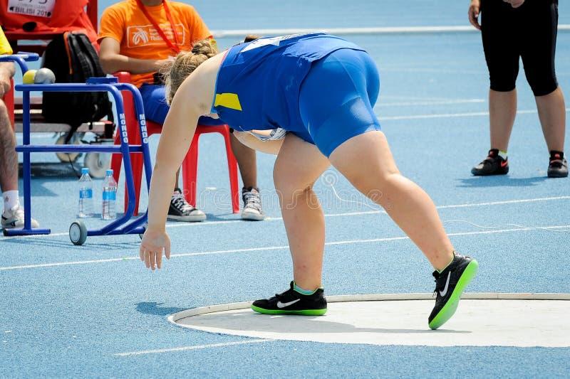 Ukraińska atleta zdjęcia royalty free