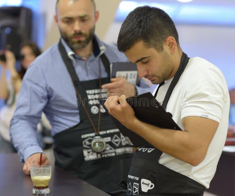 Ukraińska kawa W dobrego ducha mistrzostwie obrazy royalty free