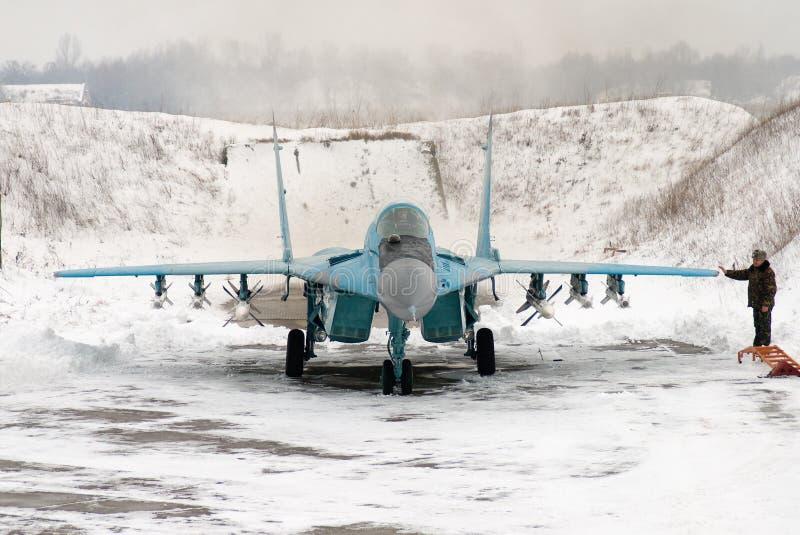 Ukraińska siły powietrzne MiG-29 fotografia royalty free