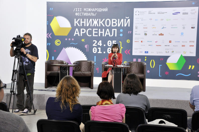 Ukraiński bestselling autor Gerbish Nadiia obrazy royalty free