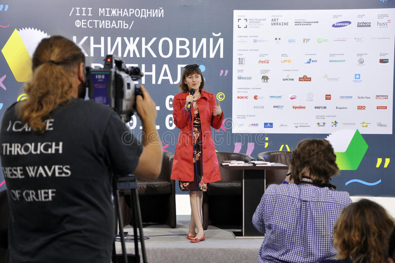 Ukraiński bestselling autor Gerbish Nadiia zdjęcia royalty free