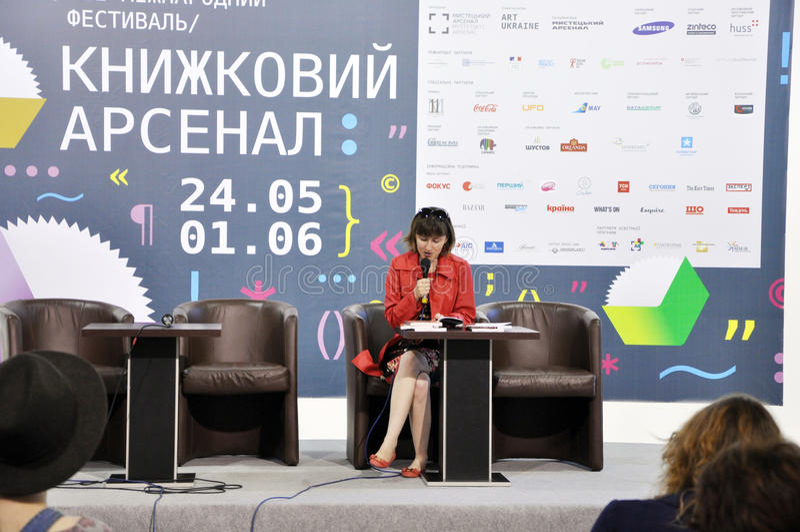 Ukraiński bestselling autor Gerbish Nadiia zdjęcia stock