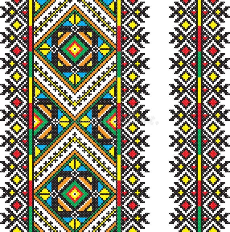 Ukraiński krajowy ornament ilustracja wektor