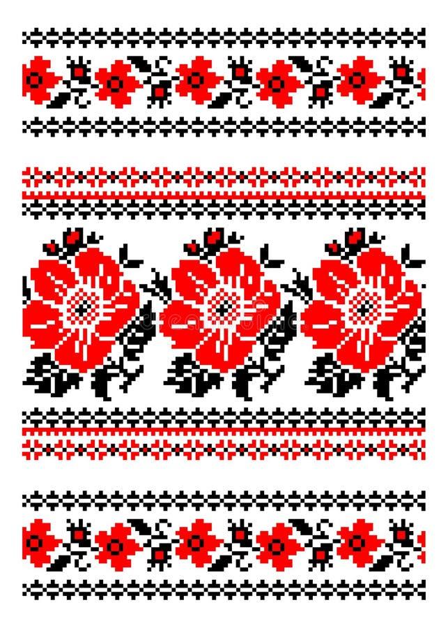 Ukraiński krajowy ornament royalty ilustracja