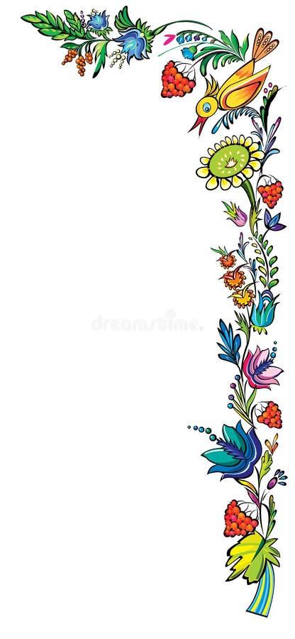 Ukraiński krajowy wektorowy kwiecisty ornament ilustracji