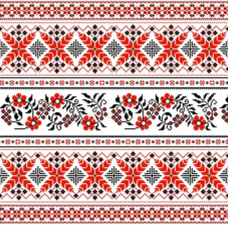 Ukraiński kwiecisty ornament ilustracja wektor