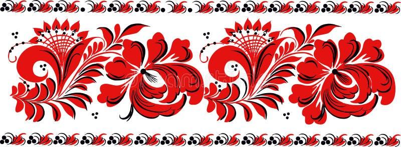 Ukraiński kwiecisty ornament ilustracji