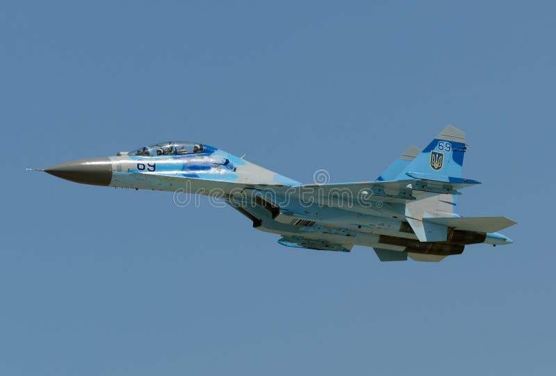 Ukraiński Su-27 Flanker obraz stock