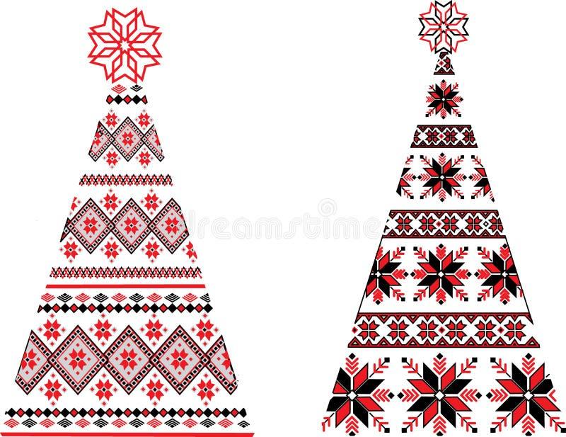Ukraińskie choinki ilustracja wektor