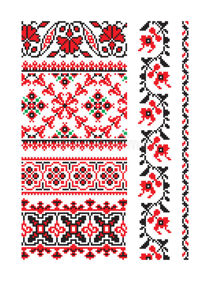 Ukraińskiego ornamentu wektorowa część 9 ilustracji