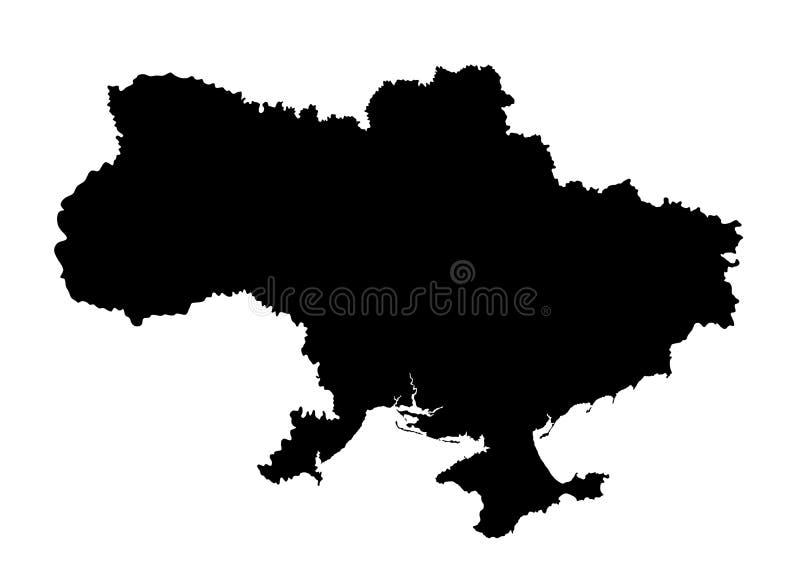 Ukraina översiktskontur vektor illustrationer