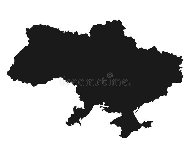 Ukraina översiktsvektor isolerad bakgrund för illustration land vektor illustrationer