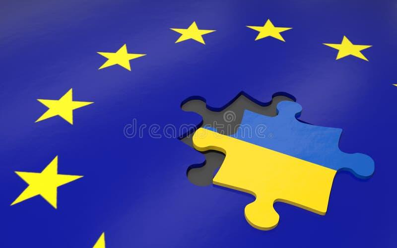 Ukraina и EC бесплатная иллюстрация