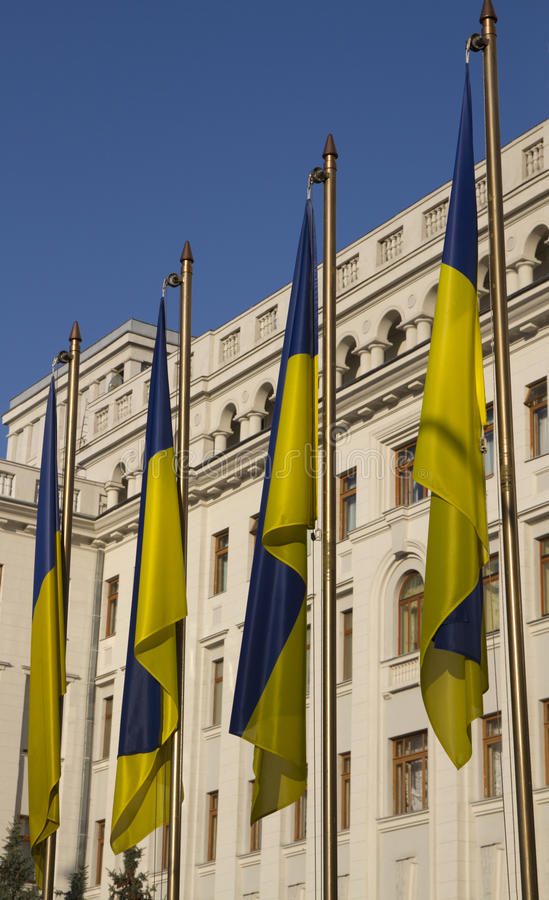 Ukraina flaga państowowa zdjęcia royalty free