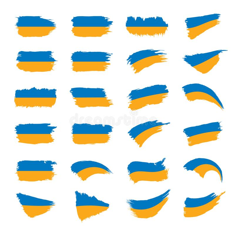 Ukraina flaga, wektorowa ilustracja royalty ilustracja