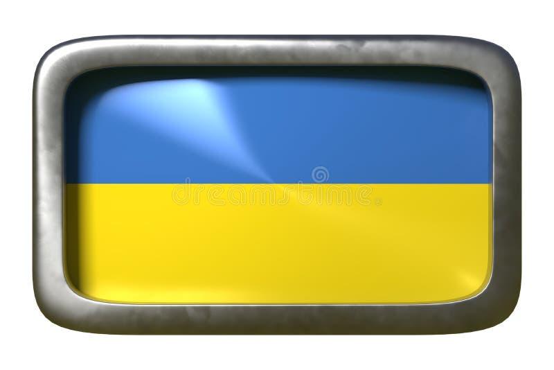 Ukraina flagi znak ilustracji