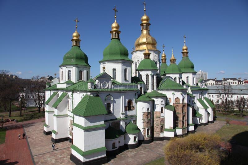 Ukraina kiev Ukraina Świętego Sophias katedra poggioreale drzwi balkonowe ruin fotografia stock