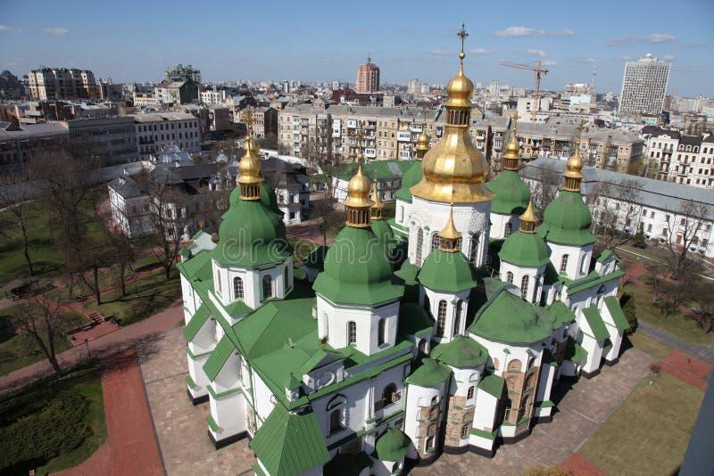 Ukraina kiev Ukraina Świętego Sophias katedra poggioreale drzwi balkonowe ruin obraz royalty free