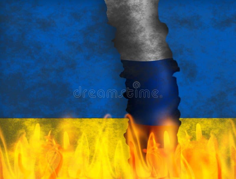 Ukraina kryzys royalty ilustracja