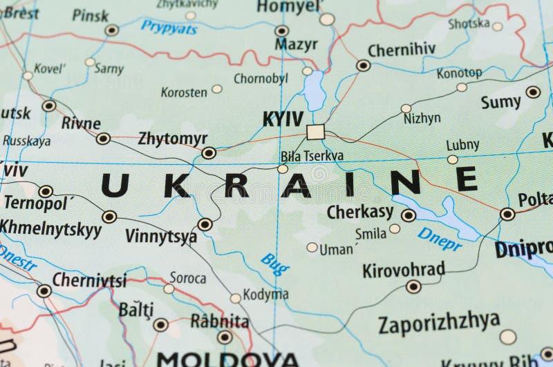 Ukraina mapa obrazy stock