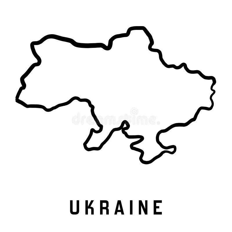 Ukraina mapy kontur ilustracji