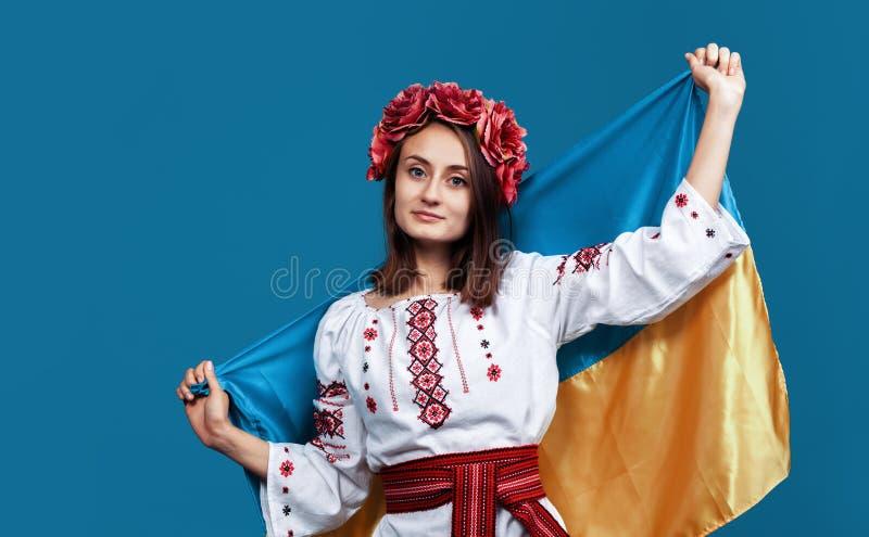 Ukraina patriotiskt begrepp royaltyfri fotografi