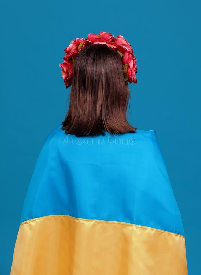 Ukraina patriotyczny pojęcie obrazy royalty free
