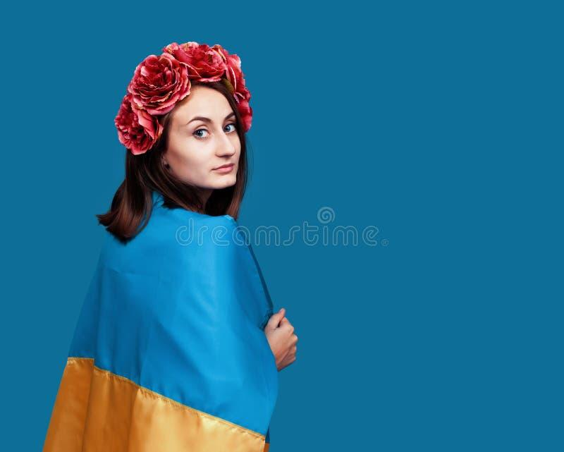 Ukraina patriotyczny pojęcie fotografia stock