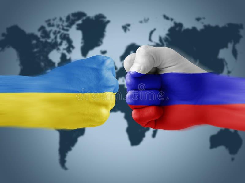 Ukraina x Ryssland stock illustrationer