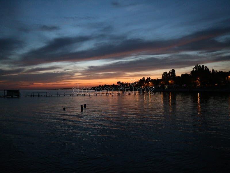 Ukraina Skadovsk Sunset royaltyfria bilder