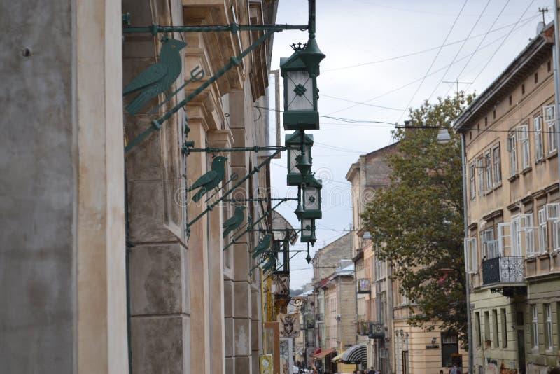 Ukraina staden av Lviv Beskåda av staden arkivbild