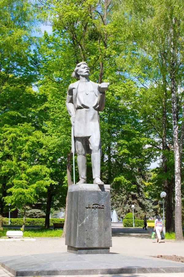 Ukraina Vinnitsa Staty av M gorky royaltyfri foto